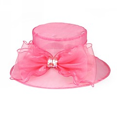 נשים אורגנזה כיסוי ראש-חתונה / אירוע מיוחד / קז'ואל / משרד וקריירה / חוץ כובעים