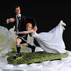 Tortenfiguren & Dekoration Nicht-personalisierte Lustig & außergewöhnlich / Sport Harz Hochzeit Weiß / Schwarz Klassisches Thema