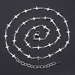 U7®New Cool Women's 316L Titanium Steel Jesus Crosses Link Chain Necklace High Quality Jewelry Gift for Women