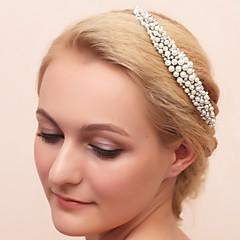 Femme Jeune bouquetière Alliage Imitation de perle Zircon Casque-Mariage Occasion spéciale Tiare