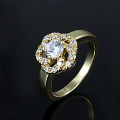 Ring Men's Cubic Zirconia Brass Brass As the Picture The color of embellishments are shown as picture.