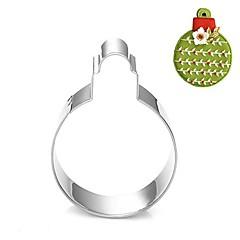 karácsonyi dekoráció buborék gömb cookie cutter, l 7,6 cm xw 6.6cm xh 2cm, rozsdamentes acél