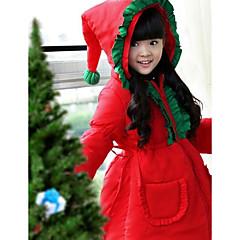 Cosplay Kostüme Santa Anzüge Fest/Feiertage Halloween Kostüme einfarbig Mantel Weihnachten Kind Polyester