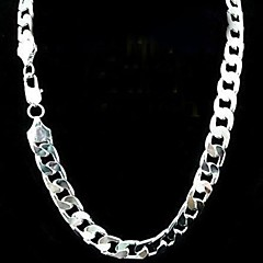 12mm 20 Inch No Empty Men's Silver Plated Necklace