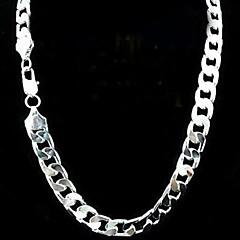 12mm 24 tommers ingen tomme menns sølvforgylt halskjede