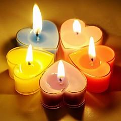 romantische hart gevormde kaarsen party's