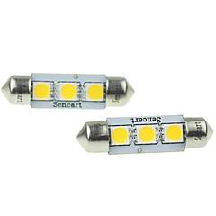 Festoon Carro Branco Quente 2W SMD LED 3000-3500 Luz de Leitura Luz de Matricula