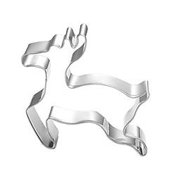 Kerst thema rendieren elanden vorm cookie cutter, l 7.5cm XW 6.5cm xh 2,5 cm, rvs