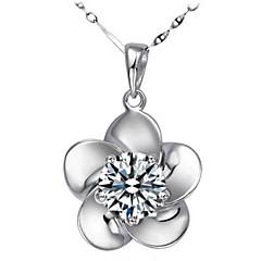 Halsband (Silver , Purpur/Vit) - till Kristall/Strass