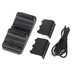 마이크로 소프트 X 박스 하나의 무선 컨트롤러 듀얼 충전기 도킹 스테이션 + 2 배터리