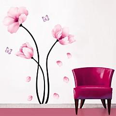 Wandaufkleber Wandtattoos, leicht rosa Blume PVC-Wandaufkleber