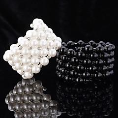 u7®ヨーロッパスタイルのパールビーズは、女の子のためのオーストリアのラインストーンの宝石類のギフトバングル友情のブレスレットを冷却