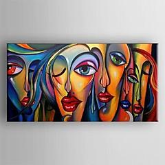 Handgeschilderde AbstractKlassiek / Traditioneel Eén paneel Canvas Hang-geschilderd olieverfschilderij For Huisdecoratie