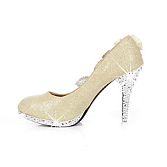Women's / Girl's Wedding Shoes Heels Heels Wedding / Office & Career / Party & Evening / Dress Red / Gold