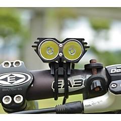 Radfahren vorderen Fahrradlicht ls070 5000lm 2xcree xml U2 LED Radfahren Fahrradlampe Scheinwerfer (schwarz)