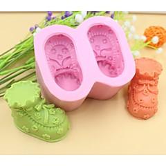 baba cipő alakú fondant torta csokoládé szilikon öntőforma torta dekoráció eszközök, l8.5cm * w7.2cm * h4.5cm