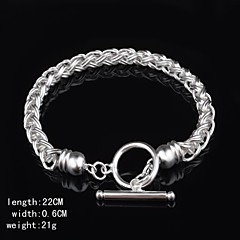 Fashion Sterling Beading Silver Women's Bracelet