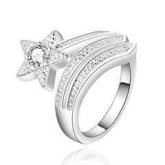 Ring Women's Cubic Zirconia Silver Silver 8 Silver The color of embellishments are shown as picture.
