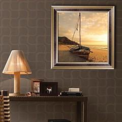 Landschaft Gerahmtes Leinenbild / Gerahmtes Set Wall Art,PVC Goldfarben Kein Passpartout Mit Feld Wall Art