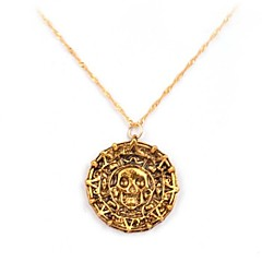 Pirates Of The Caribbean Aztec Alloy Movie Pendant Necklace(Golden,Coppery)(1 Pc)