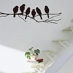 muurstickers muur stickers, tak en vogels pvc muurstickers