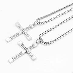 Fast and Furious cinque d'argento croce pendente collana di film in lega (1 pc)