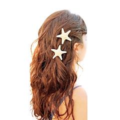 shixin® europæisk søstjerne form hvid porcelænssnegl hårspænder for kvinder (ramdon størrelse) (1 stk)