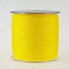500M / 550 יארד PE  / Dyneema חוט קלוע חוט דיג צהוב 100lb / 80LB / 70LB / 60LB / 45LB / 40LB / 50LB 0.28,0.3,0.32,0.37,0.4,0.45,0.5 mm ל