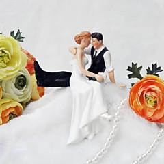Kakepynt Ikke-personalisert Klassisk Par Harpiks Bryllup / Jubileum Hvit Klassisk Tema Gaveeske