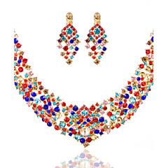 Ladies'/Women's Alloy Wedding/Party Jewelry Set With Multi-stone