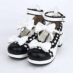 Lolita Shoes Sweet Lolita Lolita High Heel Shoes Bowknot 4.5 CM Black For PU Leather/Polyurethane Leather