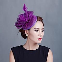 Γυναικείο Κορίτσι Λουλουδιών Φτερό Τούλι Headpiece-Γάμος Ειδική Περίσταση Καθημερινά Υπαίθριο Διακοσμητικά Κεφαλής Λουλούδια