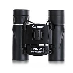 Qanliiy® 20X22 mm Binóculos Genérico Case de Transporte Alta Definição Âmbito de Visão Impermeável Visão Nocturna BAK4Revestimento