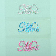 """Mrs"" Crystal Acrylic Shoe Sticker (More Colors)"
