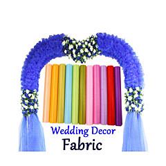 0,48 * 5m Spiegel steife Gewebe Organza für Hochzeitsdekoration drapieren Stuhl sashed Band mesh