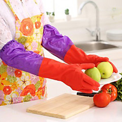 50cm langen Ärmeln Latex Handschuhe Küche Wasch Gerichte Reinigung wasserdicht 33 * 15 * 1 cm