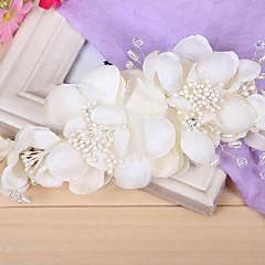 Femme Tulle / Alliage / Imitation de perle Casque-Mariage Fleurs