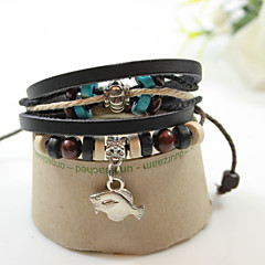 Unisex Chain Bracelet Alloy / Leather / Rope Non Stone