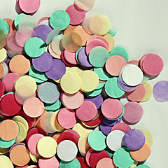 """3000 stk 2/5 """"(1cm) runde flerfarget silkepapir konfetti for fest bursdag dekorasjon"""