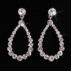 Luxurious Crystal Gender Silver Category With Gemstone For Women Wedding Party Earring