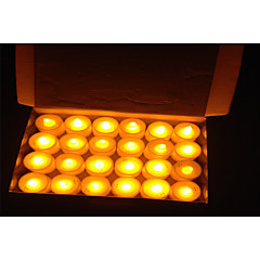 24pcs Flickering Flicker Flameless LED Tealight Candles Light Battery for Wedding Birthday Party Decoration