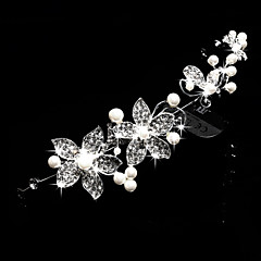 Women's Pearl Rhinestone Wedding Bridal Headpieces