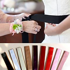 9 Color Pure Simple DIY Bowknot Satin Wedding/Party Sash