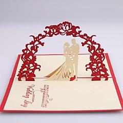 """Nepřizpůsobeno Postranní přehyb Svatební Pozvánky Ušetřete datové karty-1 Kusů v sadě Lepenkový papír 4 ¾""""×5 ½"""" (12 cm*14,5 cm)"""