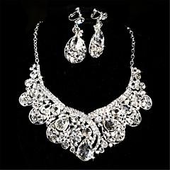여성용 라인석 라인석 합금 목걸이 귀걸이 제품 결혼식 특별한 때 결혼 선물