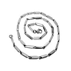 男性のダイヤモンドスティック3次元角度チタンネックレス