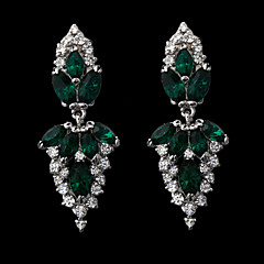 Women's Alloy Drop Earrings With Crystal Rhinestone