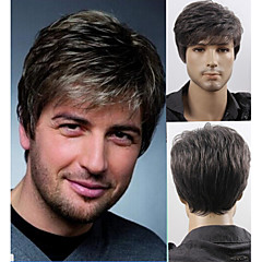 manar kort lager syntetiskt hår män peruk fri frakt