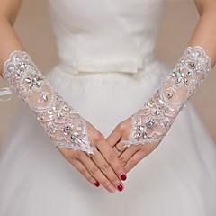 K lokti Bez prstů Rukavice Krajka Pro nevěstu Party rukavičky Pro družičky Jaro Léto Flitry Kamínky Krajka