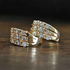 Top Quality Swiss AAA Cubic Zircon Stud Earrings White Gold Plated Shiny CZ Diamond Earrings For Women And Girls